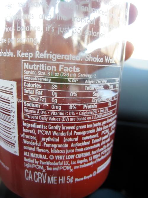 POMx Light Hibiscus Pomegranate Tea, Nutrition