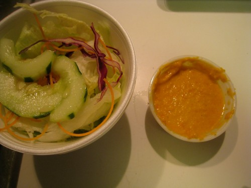 Salad w/ Carrot Miso Dressing