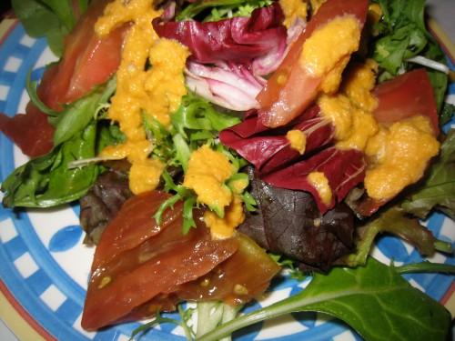 Mesclun w/ carrot miso dressing