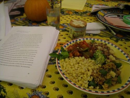Fast dinner + work