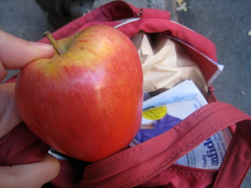 Apple on the street