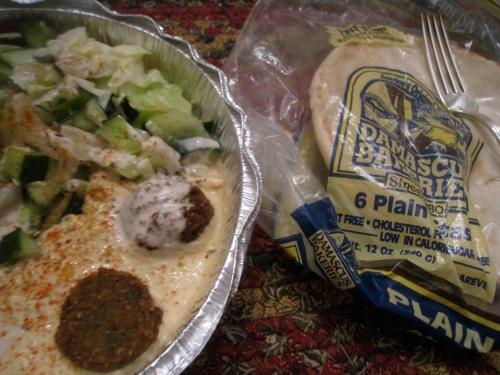 Falafel/hummus to go
