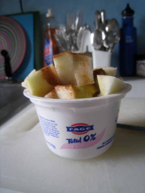 Fage 0% w/ apple & cinnamon