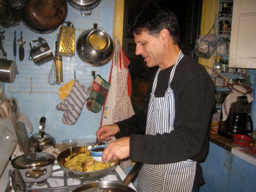 Daddy in the kitchen