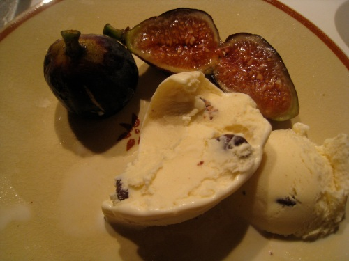 Lavender honied figs with Vanilla Swiss Almond ice cream