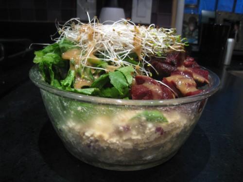 Bowl-sized salad