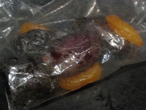Dried Fruit Snack Baggie