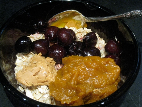 Cherry Pumpkin Pie Oatmeal