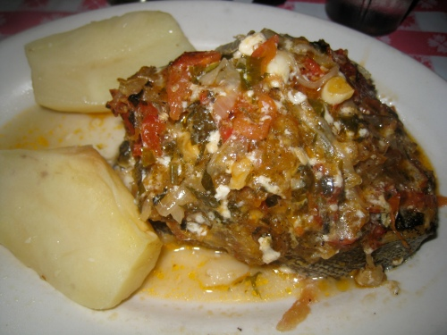 Uncle George's baked fish