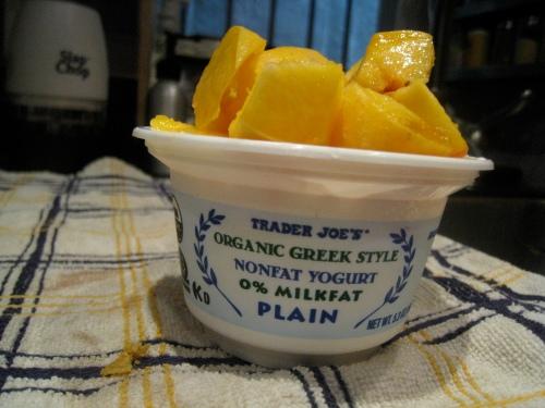 Greek yogurt w/ peach