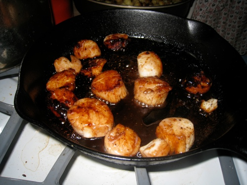 Sweet and Spicy Scallops