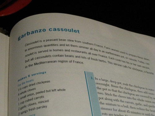 Vegetarian Times Garbanzo Cassoulet