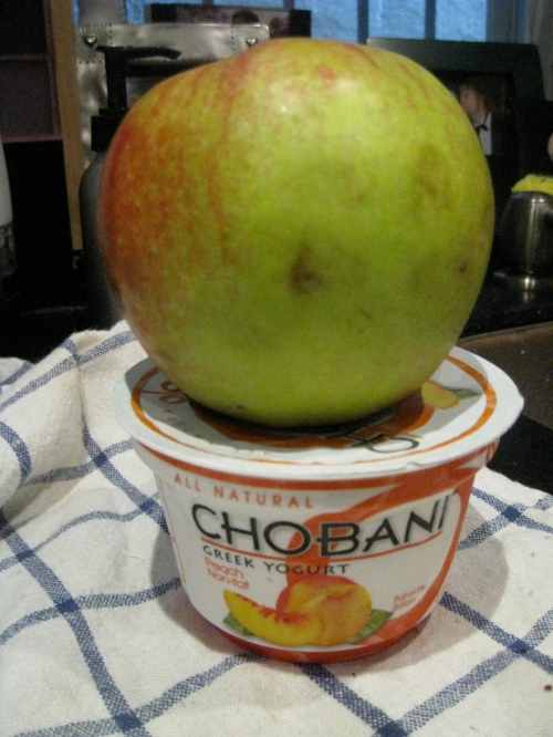 Apple & peach Chobani