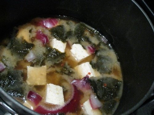 Quick Spicy Miso Soup 1