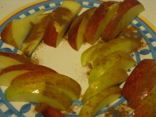 apple w/ cinnamon'