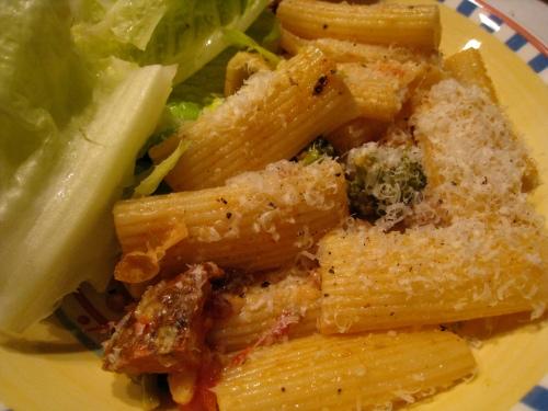 Lemony Chickpea & Broccoli Rigatoni