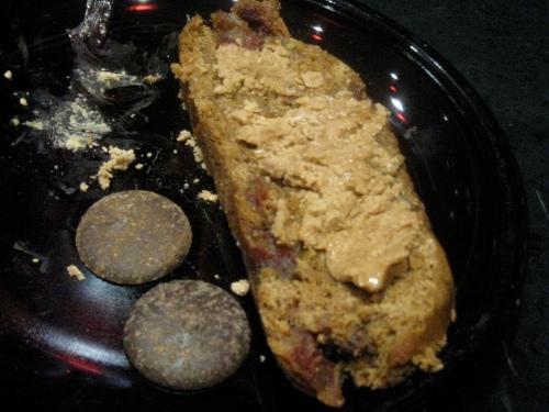 Pumpkin/Banana/Date Loaf w/ almond butter & chocolate