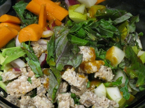 Pumpkin-Miso Avocado Salad