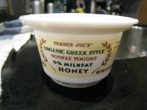 TJ's Organic Nonfat Honey Greek Yogurt