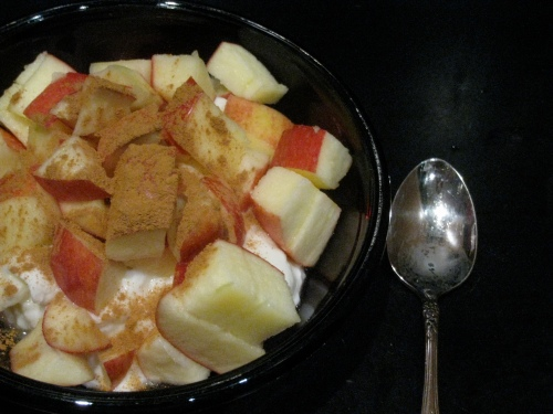 Apple/ Yogurt Snack