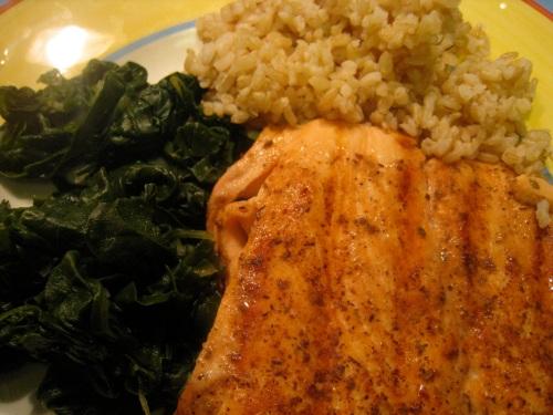 Salmon, Chard & rice