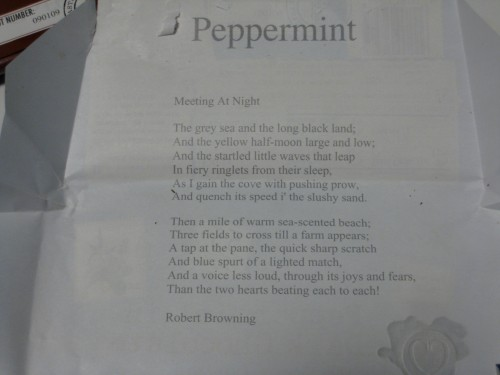 Peppermint Chocolove Poem