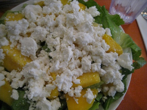 Mango & Goat Cheese Salad