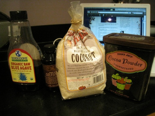 Chocolate Snowballs Ingredients