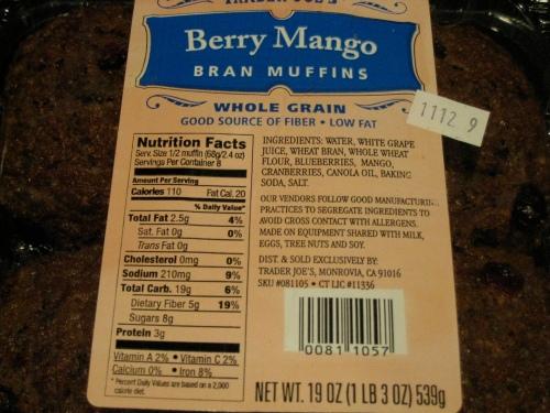 TJ's Berry Bran Muffins